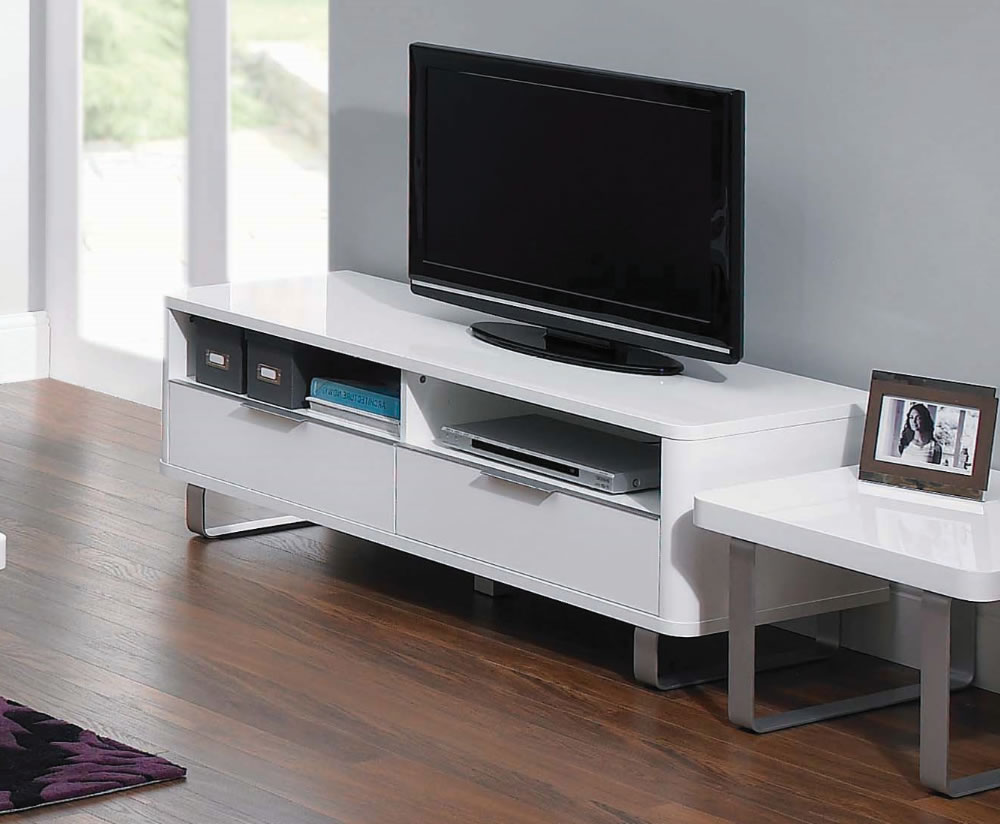 Mya White High Gloss Tv Unit Uk Delivery