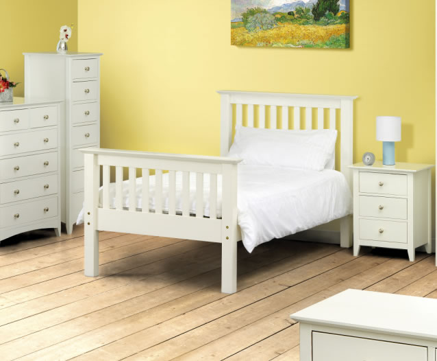 Cameo Off-White Kids Bed