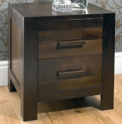 Lyon Walnut 2 Drawer Bedside Chest