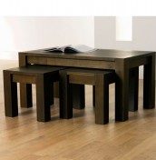 Lyon Walnut Nest of Coffee Tables
