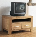 Lyon Oak Small Entertainment Unit