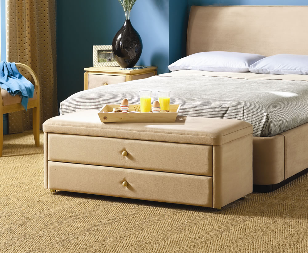 Taymar storage drawer end of bed ottoman for Storage ottoman for end of bed