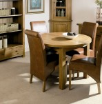 Alton Round Oak Extending Table and Chairs