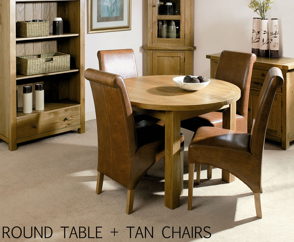 alton round oak extending table and chairs. Black Bedroom Furniture Sets. Home Design Ideas
