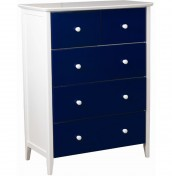 Kids Club Blue 5 Drawer Chest