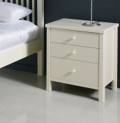 Atlantis Ivory 3 Drawer Bedside Chest