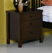 Atlantis Dark 3 Drawer Bedside Chest