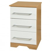 Chiltern 3 Drawer White Bedside Chest