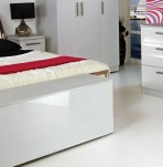 Queen White High Gloss Blanket Box