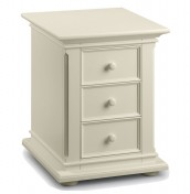 Josephine 3 Drawer Off-White Bedside Chest