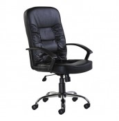 Marden Black Leather Faced Desk Chair