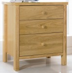 Atlantis Natural 3 Drawer Bedside Chest