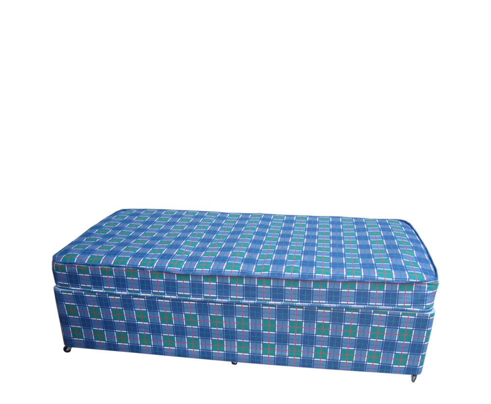Budget divan bed base only in single and double size for Single divan bed base with storage