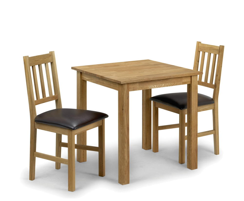 belstone square oak kitchen table and 2 chairs uk delivery. Black Bedroom Furniture Sets. Home Design Ideas