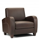 Forli Faux Leather Arm Chairs