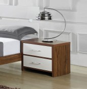Bresso 2 Drawer High Gloss Bedside Chest