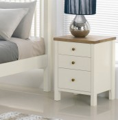 Atlantis Two Tone 3 Drawer Bedside