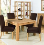 Lyon Oak 110cm End Extending Dining Set