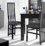 Swiss Black High Gloss Extending Dining Set