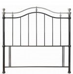Chloe Black and Nickel Headboard