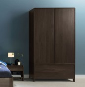 Domino Walnut 2 Door Wardrobe