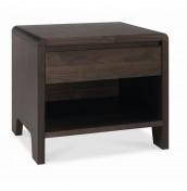 Domino Walnut Bedside Table