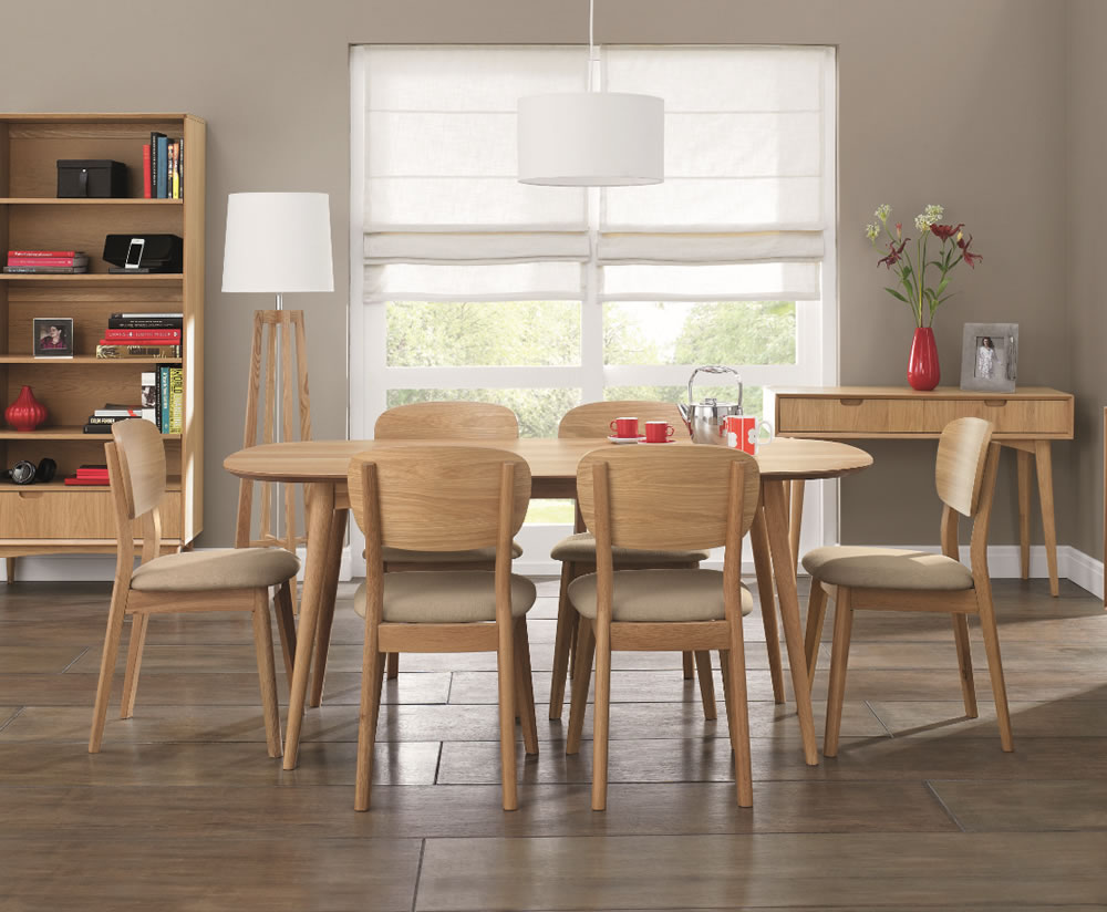 Orbit Oak Retro Dining Table and Chairs