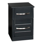 Dari Black High Gloss Bedside Cabinet