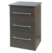 Cuban 3 Drawer Dark Oak Bedside Chest