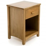 Eleanor Hevea Oak Bedside Table