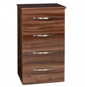 Lazio 4 Drawer Narrow High Gloss Chest