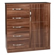 Lazio 5 Drawer Combi High Gloss Chest