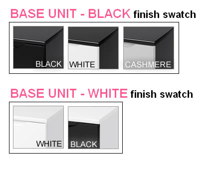 Vogue 3 Drawer High Gloss Chest