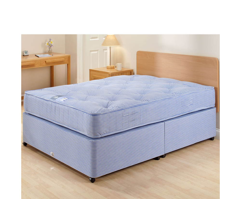 Edinburgh medium firm tension divan bed set Divan bed bases