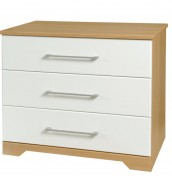 Chiltern 3 Drawer White & Oak Effect Chest