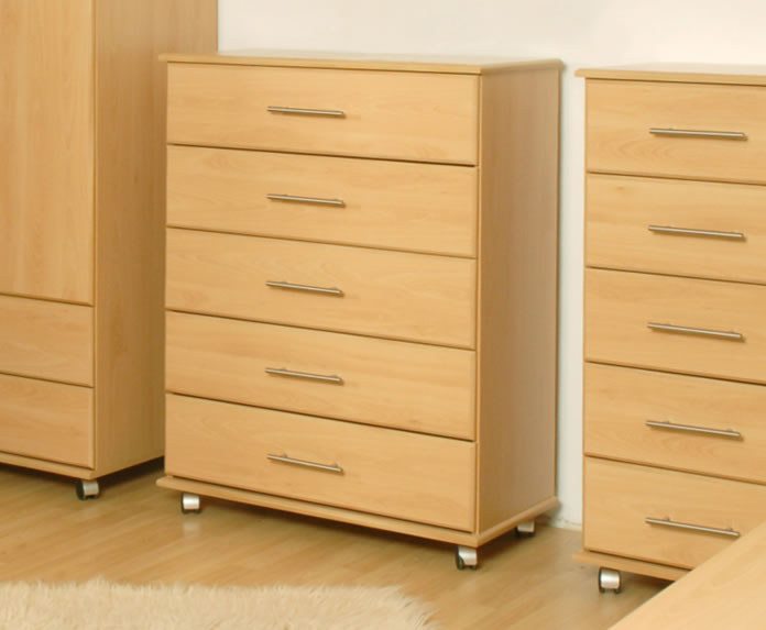 Boston 5 Drawer Contract Chest