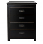 Orient 4 Drawer Black Chest