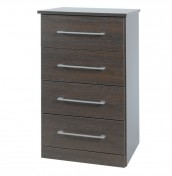 Cuban 4 Drawer Narrow Dark Oak Chest