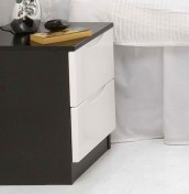 Vogue 2 Drawer High Gloss Bedside Chest
