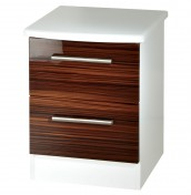 Bishop 2 Drawer High Gloss Bedside