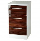 Bishop 3 Drawer High Gloss Bedside