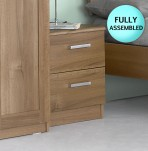 Alive 2 Drawer Walnut Bedside Chest