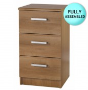 Alive 3 Drawer Walnut Bedside Chest