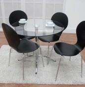 Candy Glass Breakfast Table and Chairs
