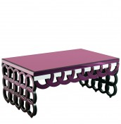 Finley Purple Glass Coffee Table