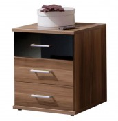 Lorenzo 3 Drawer Walnut Bedside Chest