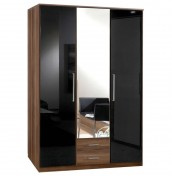 Lorenzo 3 Door Walnut Wardrobe