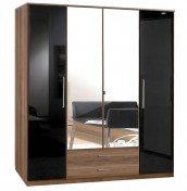 Lorenzo 4 Door Walnut Wardrobe