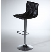 Partridge Black Faux Leather Bar Stool