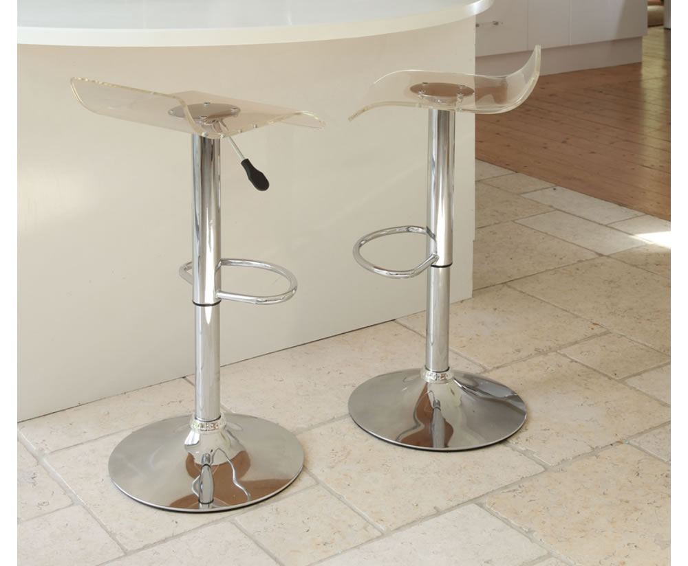 Partridge Cream Faux Leather Bar Stool